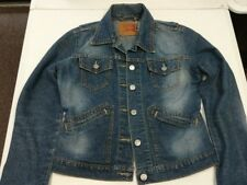 Levis Junior Denim Jean Trucker Jacket Sz Small S