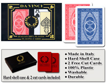 Da Vinci Ruote 100% Plastic Playing Cards - Poker Size Jumbo Index