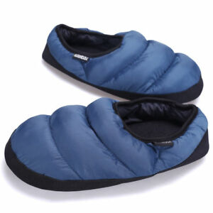 Men Non-slip Slip On Indoor Warm Slippers Sandals Fur Lining Casual Home Shoes