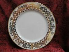"Fitz & Floyd Luxor, Buff with Geometric Gold Design: Dinner Plate (s) 10 3/8"""