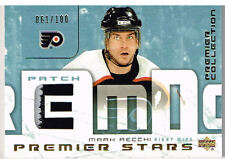 03-04 UD Premier Collection STARS PATCH xx/100 Made! Mark RECCHI - Flyers