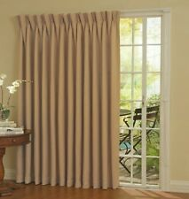 Thermal Blackout Patio Door Curtain Panel, 100 x 84 Home Privacy Cool Wheat