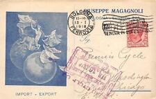 3444) BOLOGNA, GIUSEPPE MAGAGNOLI, IMPORTEXPORT IN VIA SARAGOZZA.  VG NEL 1918.