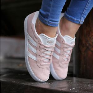 adidas Originals Womens Ladies Girls Adidas Gazelle Light pink Trainers BY9544