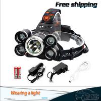 90000LM 5 X XM-L T6 LED Headlamp Headlight Flashlight Head Torch Super Bright