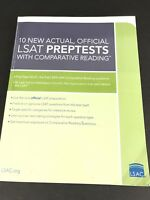 10 New Actual Official LSAT Preptests with Comparative Reading 2011