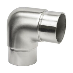 90 Degree Radiused Elbow - 48.3mm Satin Polished 316 Stainless Fencing Handrail