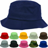 Unisex 100% Cotton Fishing Bucket Hat Cap Boonie Brim Summer Sun Safari Camping
