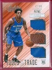 2015-16 Absolute (Bkb) Cameron Payne Sp Trpl Jersey/Ball/Jersey Rc Card #d 42/99