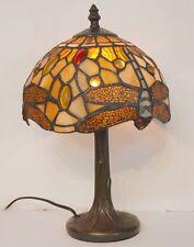 Tiffany Lámpara De Mesa ~ Libélula Diseño ~ Impresionante!!!