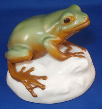 Superb Nymphenburg Porcelain Green Frog Figurine Porzellan Frosch Figur Figure