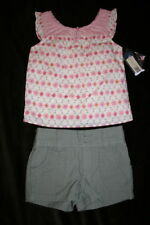 NEW!  Girls Summer Top & Shorts Outfit ~Size 12 Mos NWT
