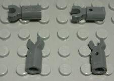 Lego Verbinder Pin Loch mit Clip new Dunkelgrau 4 Stück                (5138 AQ)