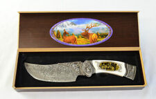 Frost Cutlery Ornamental Elk Fix Blade Knife & Case (2456)