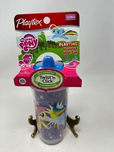 Playtex Sippy Cup My Little Pony Twist N Click 9oz Insulated 12 Month+ BPA Free