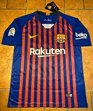 New Nike Lionel Messi FC Barcelona 2018-2019 Authentic Home Jersey~Adult Small