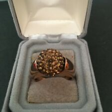 Ring,Sz 10,Bronze Metal,Pave Set Crystals Qvc Bronzo Italia Crystal Ball Fashion