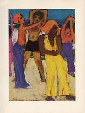 """1959 Vintage EMIL NOLDE """"BEACH"""" KAMPEN on SYLT FABULOUS COLOR Offset Lithograph"""