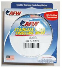 Afw Trolling Wire Stainless Steel 30lb/600ft New! #G030-4/2 Free Usa Shipping