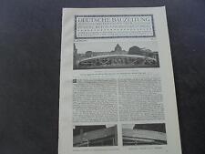 1909 ...Bauzeitung b10 / Brücke in Biebrich Teil 2