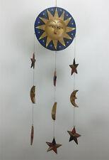 Mobile blau Kinder BABY Sonne Mond Sterne Kinderzimmer Flur Küchen Holz Deko NEU