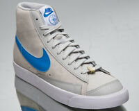 Nike Blazer Mid '77 NRG EMB Men's Grey Blue White Casual Lifestyle Sneakers Shoe