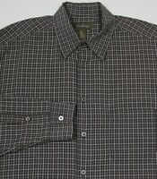 Ermenegildo Zegna Brown w/ Sky Blue Checkered Cotton Dress-Casual Shirt Mens XXL