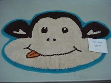 "NWT Bath In Style 100% Cotton Monkey Bathroom Mat Rug 20"" x 30"" Multi #418J"