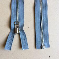 2x 50 cm Grey YKK metal jacket zip zipper  (#313)