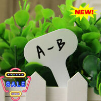 100Pcs Potted Plastic T-type Tags Markers Nursery Labels Garden New