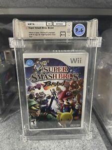 Super Smash Bros. Brawl Wii BRAND NEW Factory SEALED WATA 9.6 A++ MINT VGA Mario