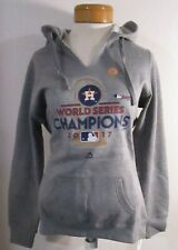 NWT Majestic Houston Astros Womens 2017 World Series Champions Hoodie L Gray $60