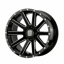 KMC XD Series 20x10 XD818 Heist Wheel Gloss Black Milled 5x5 / 5x127 -24mm 4.56""