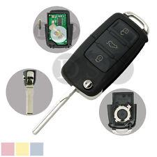 Flip Key Case 434MHz Chip fit for VOLKSWAGEN SKODA 3 BTN Key Case 1J0 959 753 AH