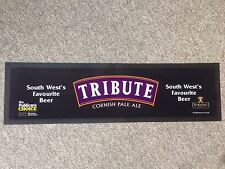St. Austell Brewery Tribute Cornish Pale Ale Rubber and Cloth Bar Mat / Runner