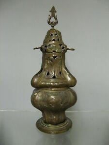 Ancien encensoir d'église en laiton du 18 ème.