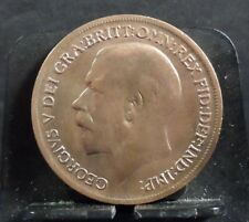 CIRCULATED 1917 ONE PENNY UK COIN (51118)1