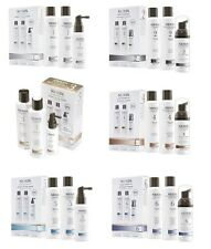 Nioxin Hair System Kit:Cleanser, Scalp Therapy, Scalp Treatment 1, 2, 3, 4, 5, 6