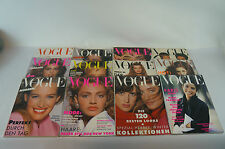 Vogue - Modemagazin, hochwert. Konvolut bzw. Sammlung des kompl. Jahrgangs 1989