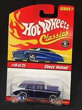 Hot Wheels Classics Series 1 MOC #16 of 25 1955 Chevy Nomad Met Blue [box ship]