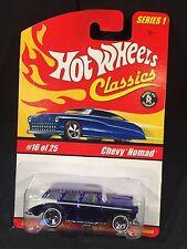Hot Wheels Classics Series 1 MOC #16 of 25 1955 Chevy Nomad Met Blue [box ship]