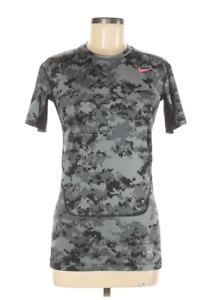 EUC NIKE PRO COMBAT Sz M Gray Digital Camo Dri-Fit Compression Athletic Shirt