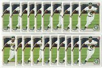 x40 ROBERT PUASON 2020 1st Bowman #BP145 Rookie Card RC lot/set Oakland A's Mint