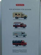 Wiking 75 Jahre Opel BLITZ - 4er Videoset - 0990 44