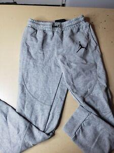 Boys Nike Jordan Joggers Athletic Sweat Pants Gray Logo L [12-13 yrs]