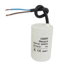 CBB60 450VAC 25uF 5% Wired Terminal Motor Capacitor CT Q2A5 L6M3 C1B4 L0H4