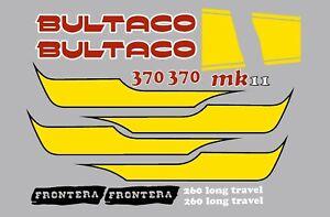 BULTACO FRONTERA MK11 370 DECALS KIT