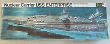 VINTAGE 1969 1/720 SCALE NUCLEAR CARRIER USS ENTERPRISE MODEL KIT BY REVELL