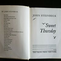 1954 First Edition copy of John Steinbeck's SWEET THURSDAY