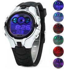 Reloj gris Digital Deporte esfera Led Retroiluminado 8 colores-crono-alarma